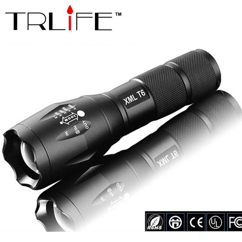 Zoomable 6000 Lumen 5 Modes Tactical Flashlight XML T6 LED Torch Lamp Light Focu
