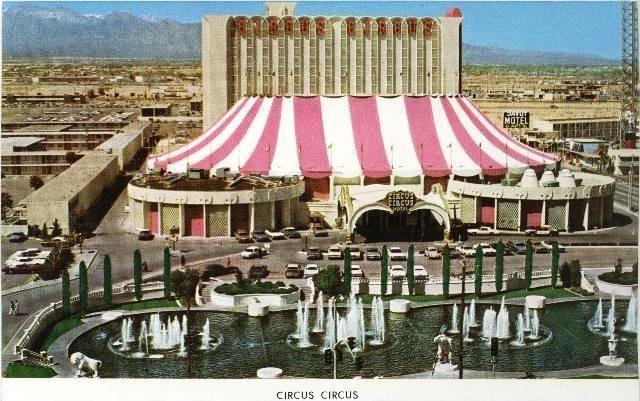Vintage Las Vegas Old Photo Of Circus Circus Casino On The Strip
