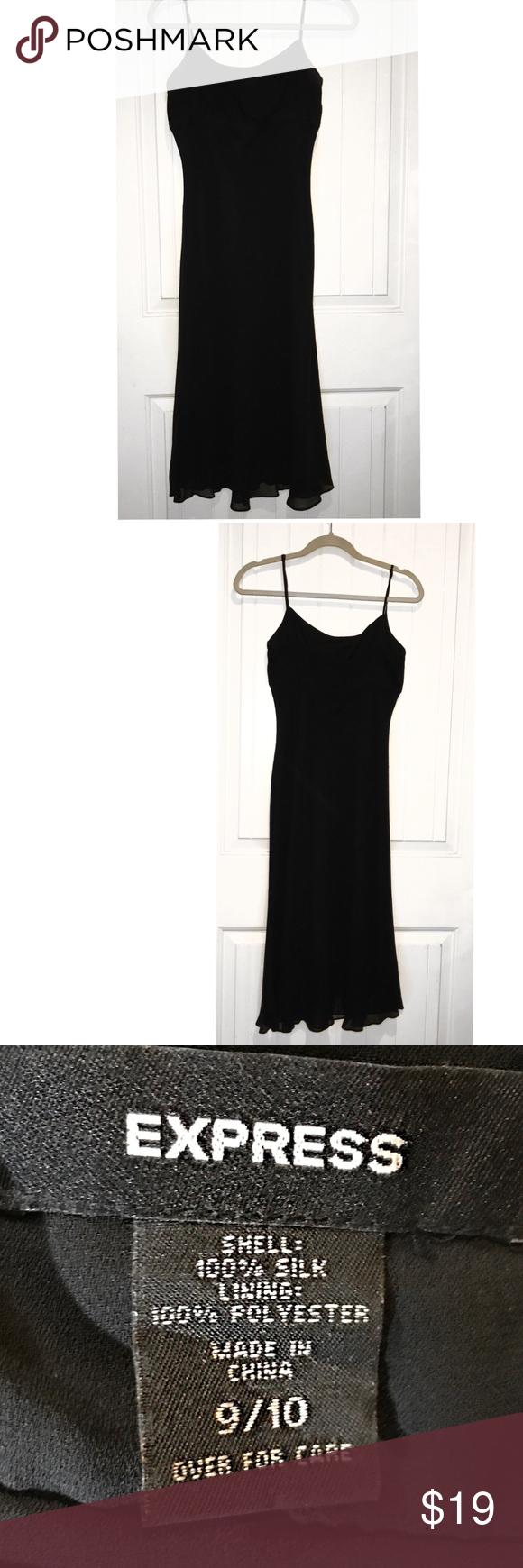 Express prom blk dress spaghetti straps size express dresses