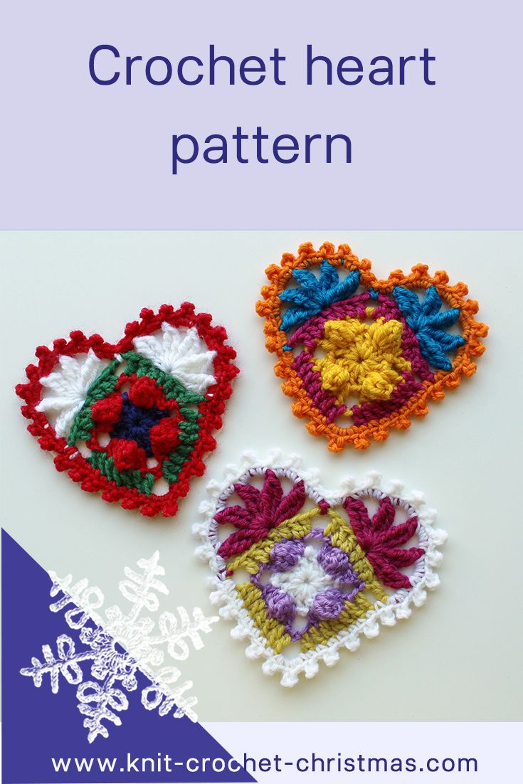 Decorate with crochet hearts | Patrón de ganchillo, Ganchillo y Tejido