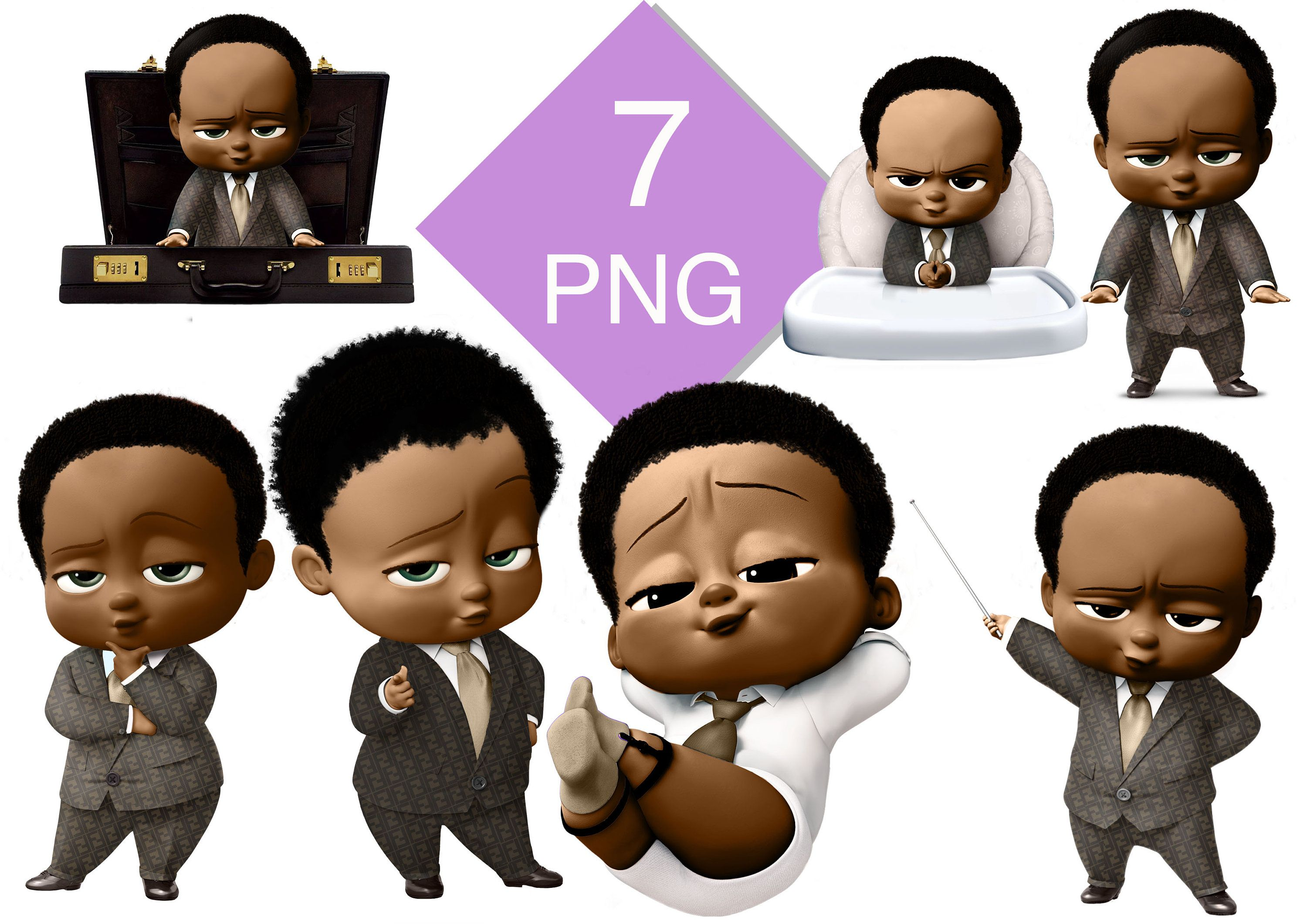 African American Boss Baby Clipart Boy Baby Baby Boss