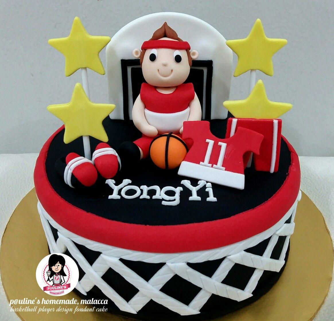 Basketball Player Design Fondant Cake Fondant Pinterest
