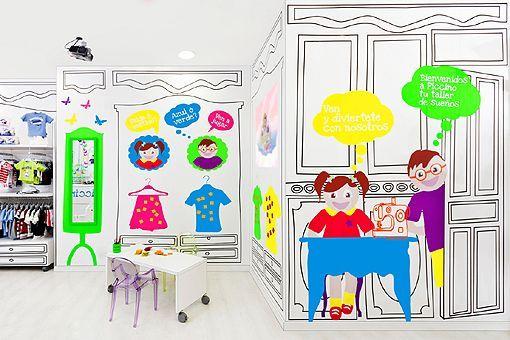 a6feecd6b3 Una tienda de ropa infantil que parece sacada de las páginas de un cuento -  Decoratrix