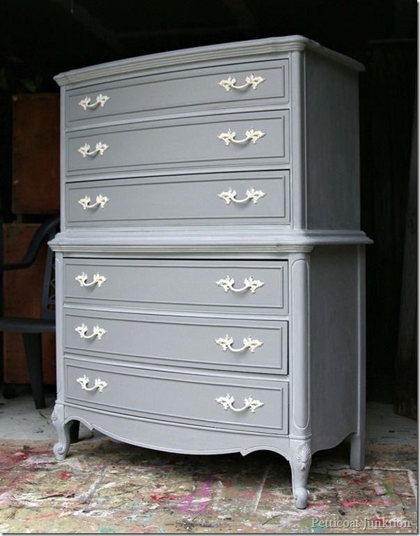 The Gray Cabinet | It's All In The Details - Petticoat Junktion #graycabinets