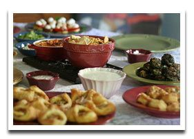 Party food presentation suggestion pretty fiesta food great ideas for party food suggestions includes ideas for party finger foods party recipes and great party menu ideas forumfinder Choice Image