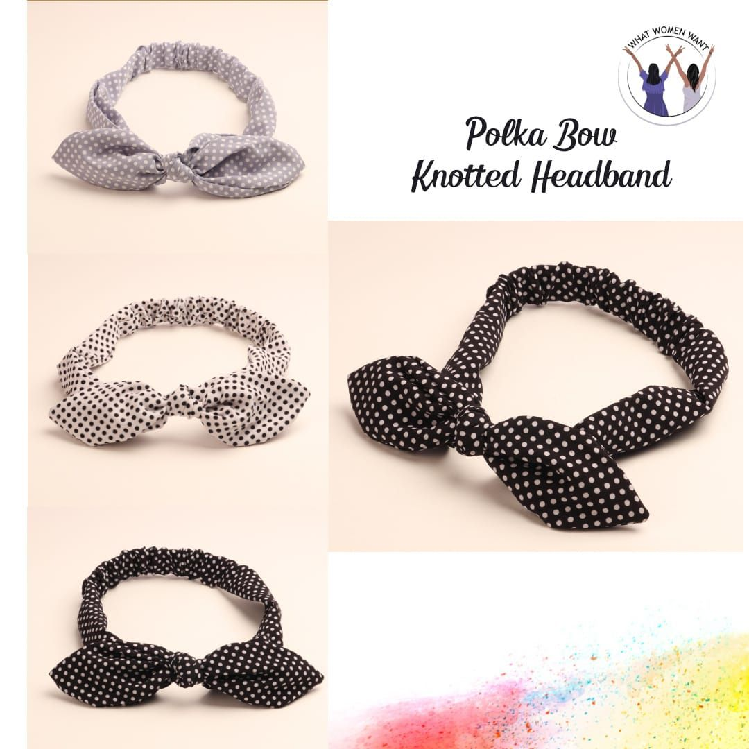 Connecting the dots in the best way possible! Polka Dots Knotted Hairbands are the way to go! Dm us for price details . . Or Contact us at 9359065322 #whatwomenwant #hairbands #hairaccessories #hairaccessory #hairbandstyle #fashionaccessories #womenaccessories