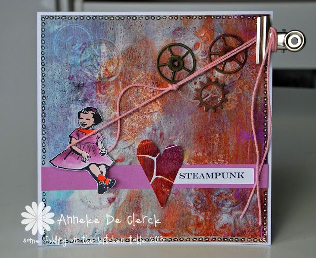 Some fiddling on the kitchen table: Art Journey Challenge #35 'Steampunk'