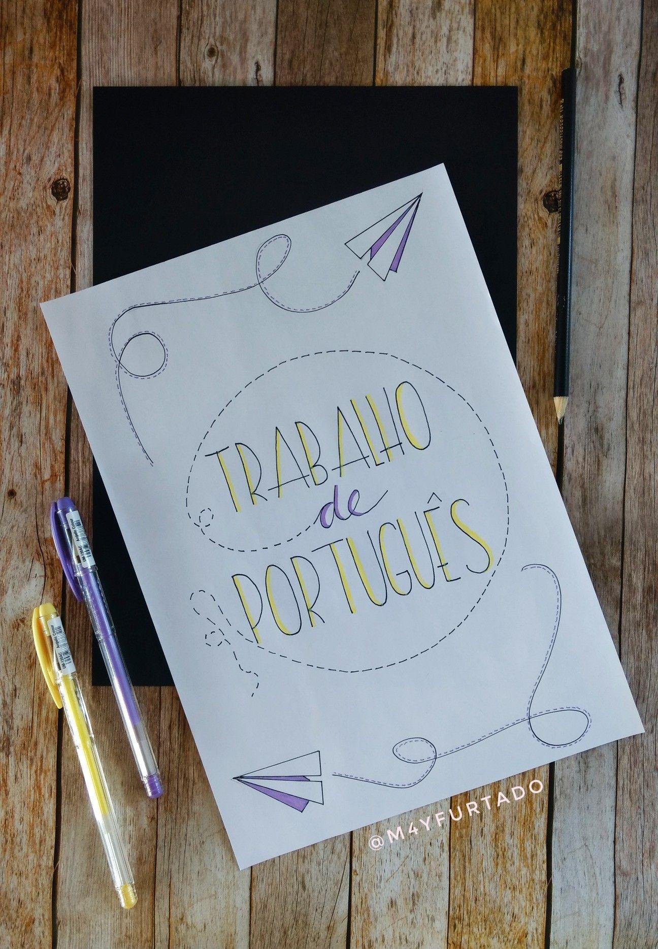 Capas para trabalhos escolares | Estudos | Pinterest | Schriftarten