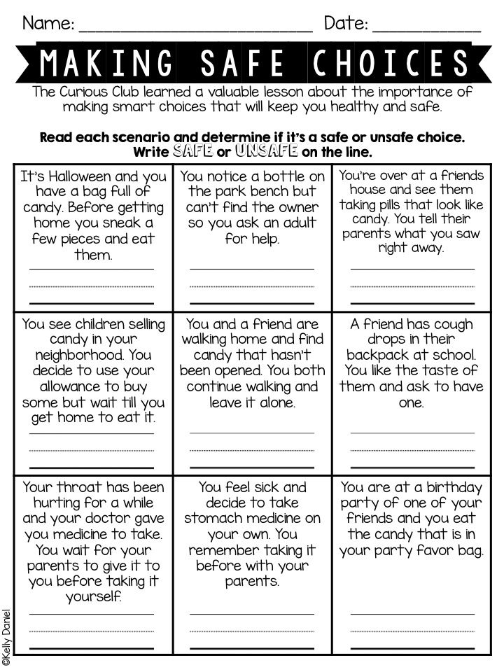 Printables Choices And Consequences Worksheet 1000 images about health safety school counseling on pinterest digital citizenship posters lessons and