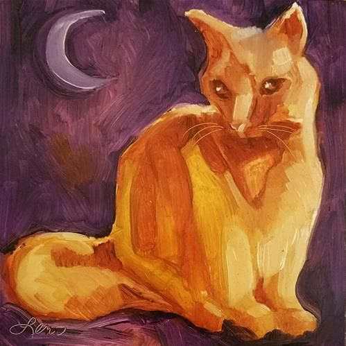 Twilight kitty by Leni Tarleton