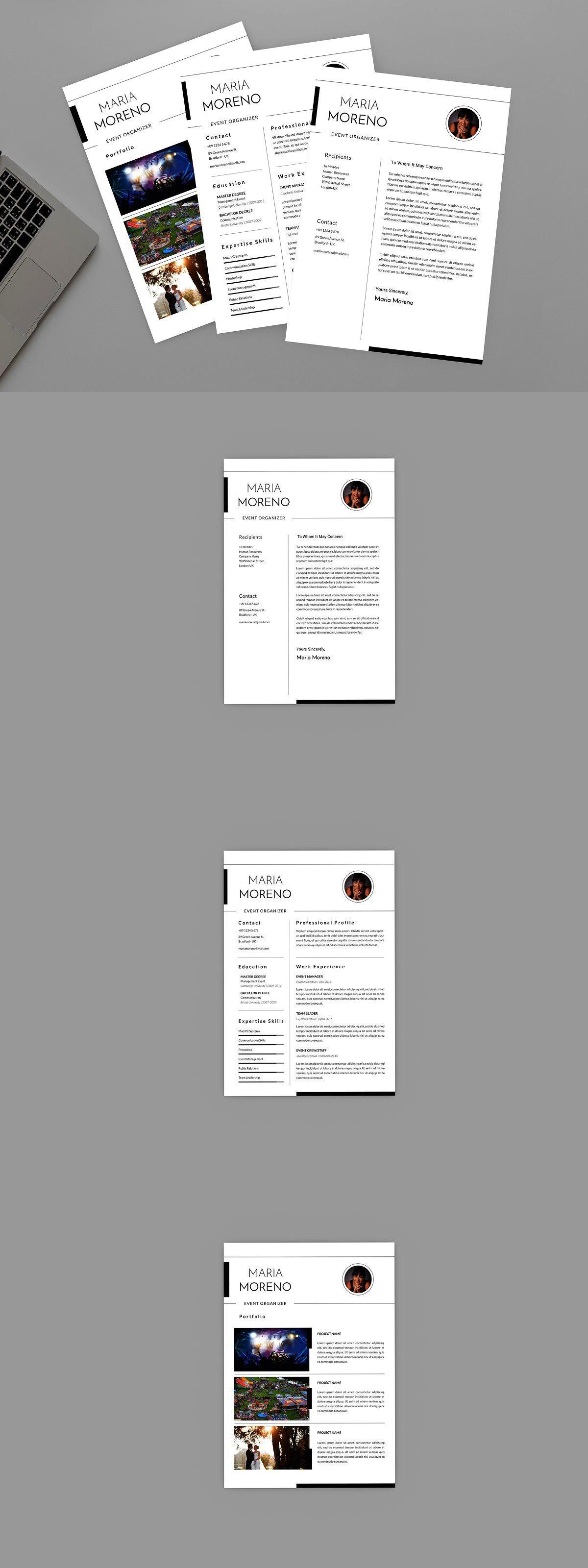 Event Moreno Resume Designer in 2020 Resume, Resume