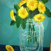 Dandelions in Mason Jar - Home Team Grill April 24th 6:00 pm-8:00 pm http://www.wineanddesign.com/calendar/view_event.php?eventID=47918&date=2015-04-24&calendarID=59