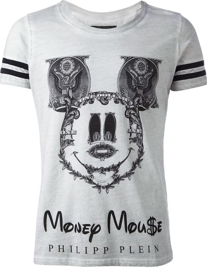 philipp plein 39 money mouse 39 printed t shirt style. Black Bedroom Furniture Sets. Home Design Ideas