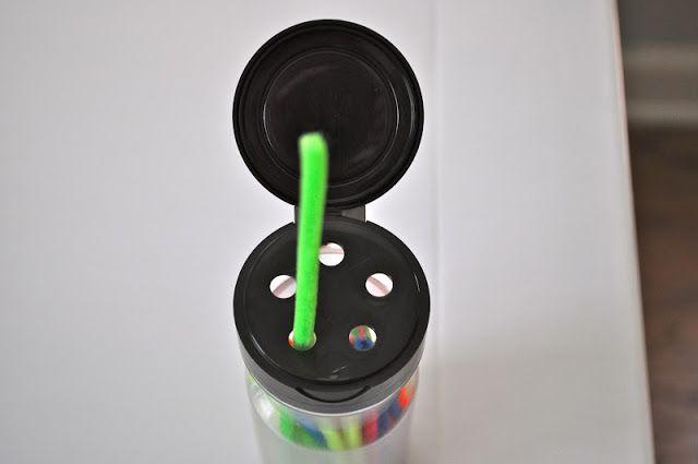 Kara's Classroom: DIY Travel Toy #1 - Pipe Cleaner Stringing