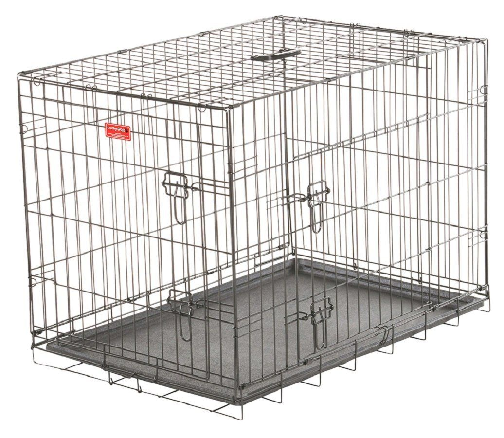 Wire Training Crate - Lucky Dog 2 Door Kennel - Includes Rust ...