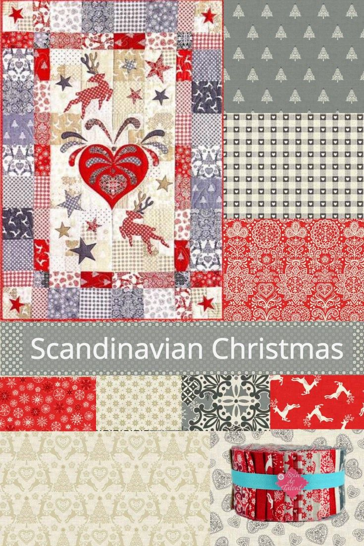 scandinavian fabric collection christmas quilt and baskets tutorials christmas jelly rolls available at brindetalent