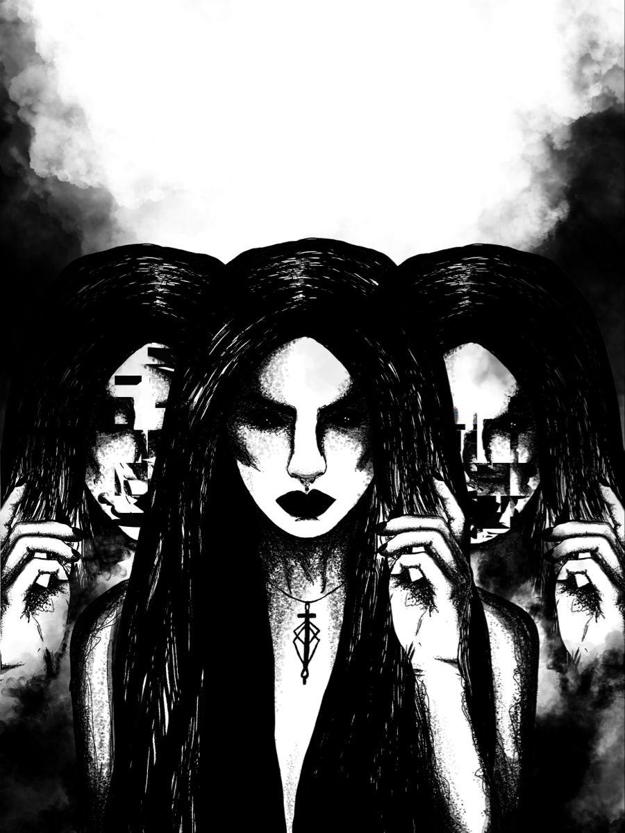 #unhinged #art #darkart #gothic #horror #darksurrealism #minimalistart #blackandwhite #spooktober #spooky #aesthetic