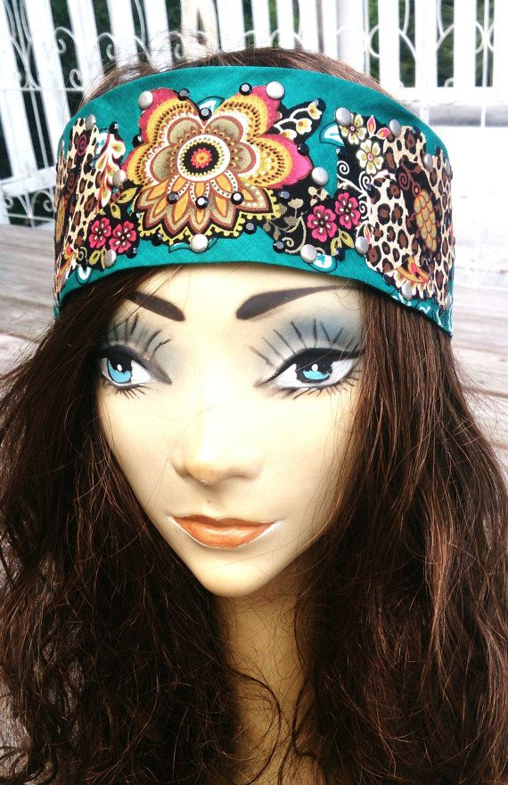 BOHO BLING BANDANA Gypsy Headband Biker    By SecretStashBoutique  8f1a5d51da7