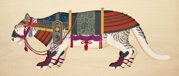 Tenmyouya Hisashi #tenmyouyahisashi #arte #disegno #samurai #giappone #animali #tigre
