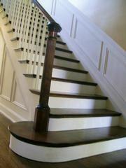 Best Mahogany Foot Tread And White Stairs Hardwood Stairs 640 x 480