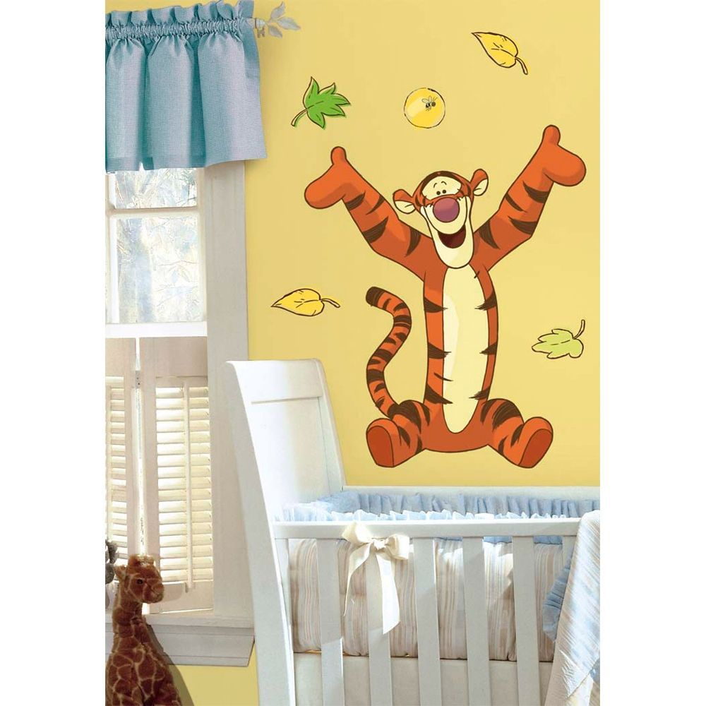 Roommates Winnie the Pooh Tigger Peel & Stick Giant Wall Decal Art ...