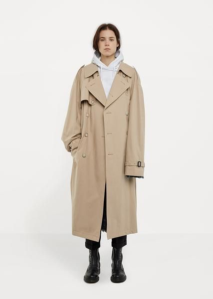 X Mackintosh Open Back Trench Coat