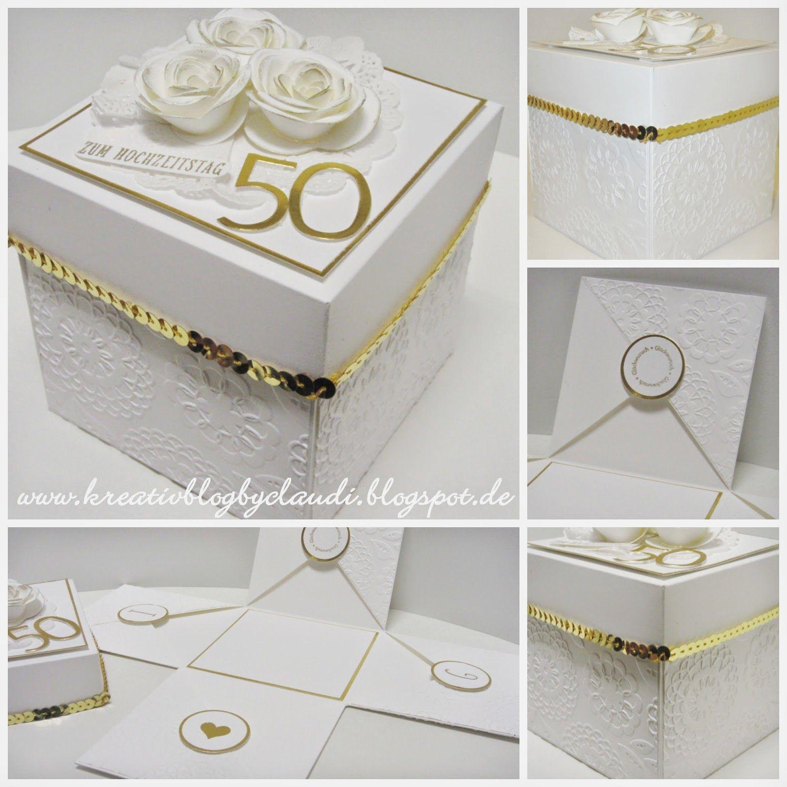 Eine Explosionsbox Zur Goldenen Hochzeit Wurde Gewünscht