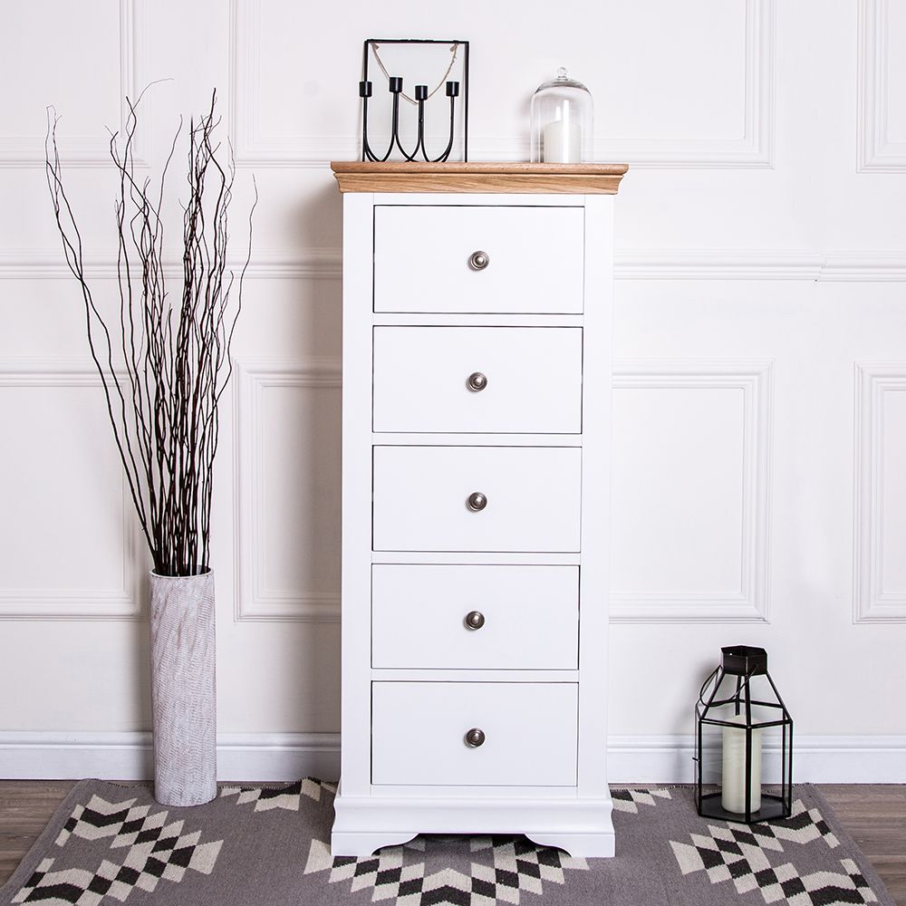 Pin By Chiltern Oak Furniture On Dover White Tallboy Chest Of Drawers Dover White White Paints