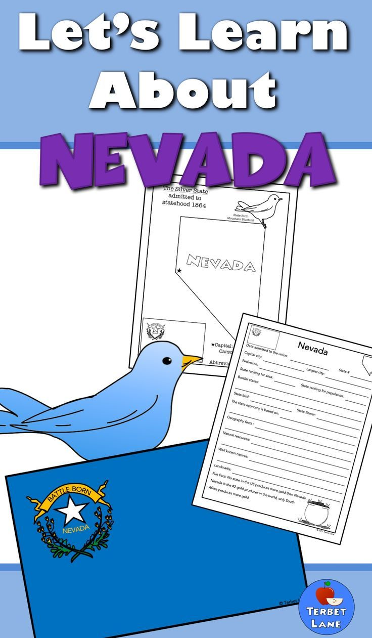 Nevada History And Symbols Unit Study Pinterest Geography