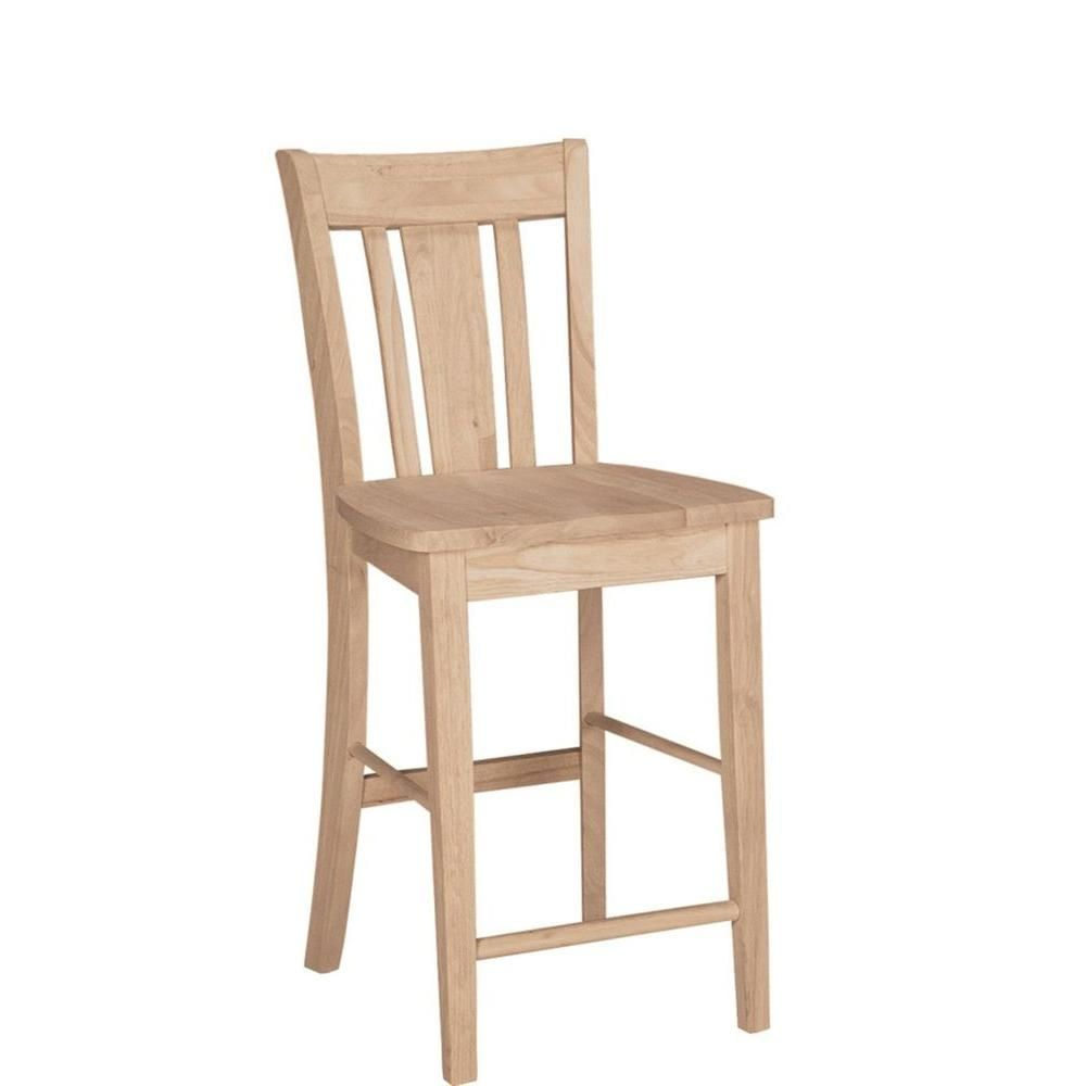 International Concepts 24 In Unfinished Wood Bar Stool S 102