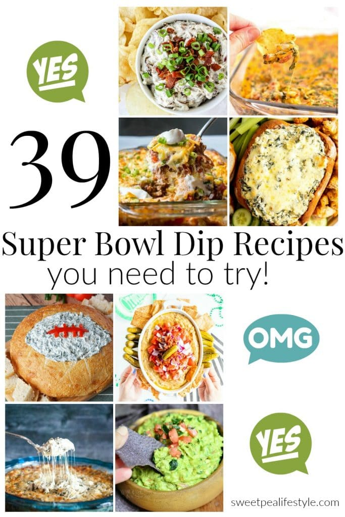 39 Super Bowl Dip Recipes You Need to Make! - Sweetpea Lifestyle #gamedayfood