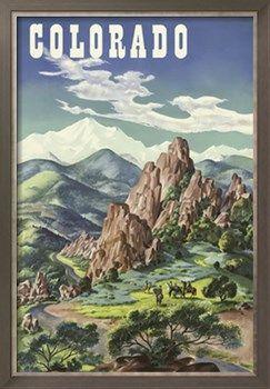 Colorado Fishing Unites Air vintage travel promo poster repro 12x18