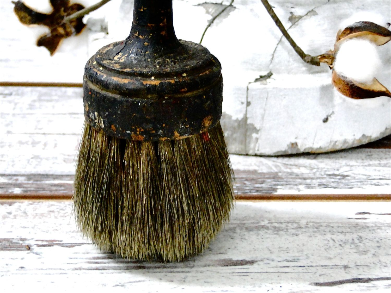Antique Paint Brush Horse Hair Bristles