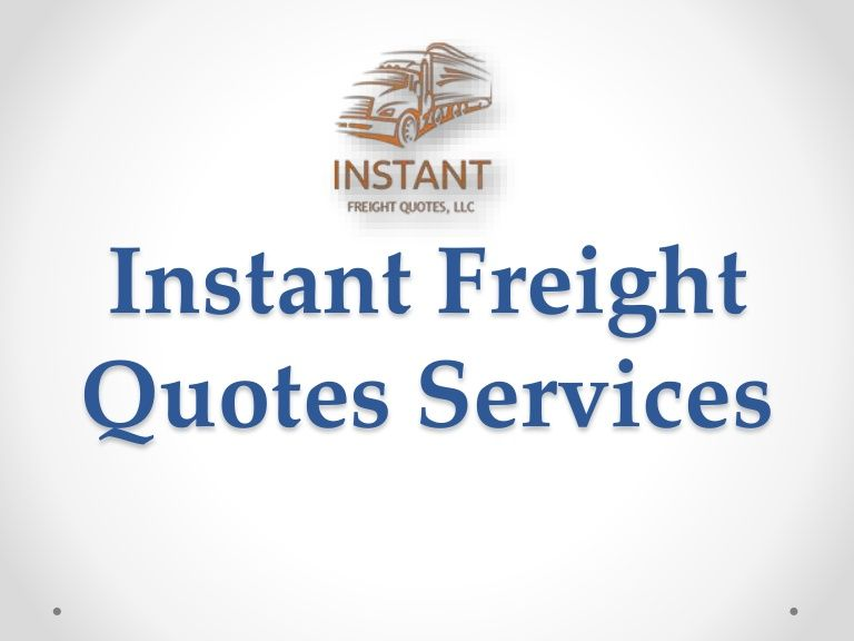Freight Quote Ltl Delectable Freight_Quotes_From_Florida Instant Freight Quotes Llc Is The One . 2017