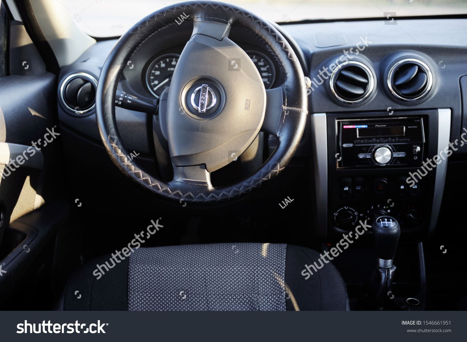 Belarus Minsk October 31 2019 Private Eco Car Nissan Almera Car Interior And Dashboard N Ad Affiliate Private Bela In 2020 Nissan Almera Car Interior Nissan