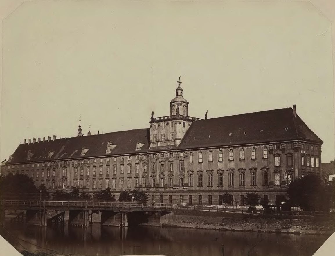 Uniwersytet Wrocławski i most Długi.Lata 1865-1867