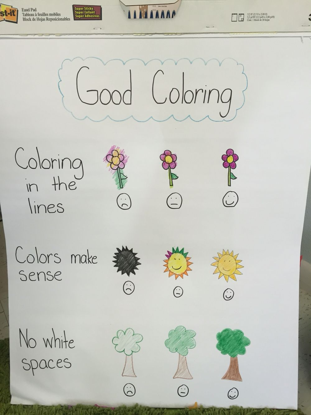 Mrs. Connell's good coloring chart for kindergarten