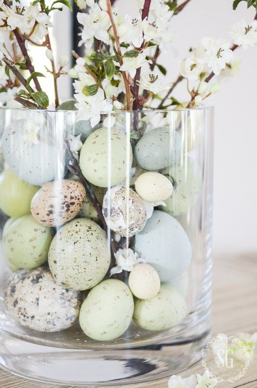 Weekly Wows  1   Glass vase   Pinterest   Easter  Decorating and Create EASTER 10 MINUTE DECORATING  Create a beautiful Easter arrangement in under  10 minutes