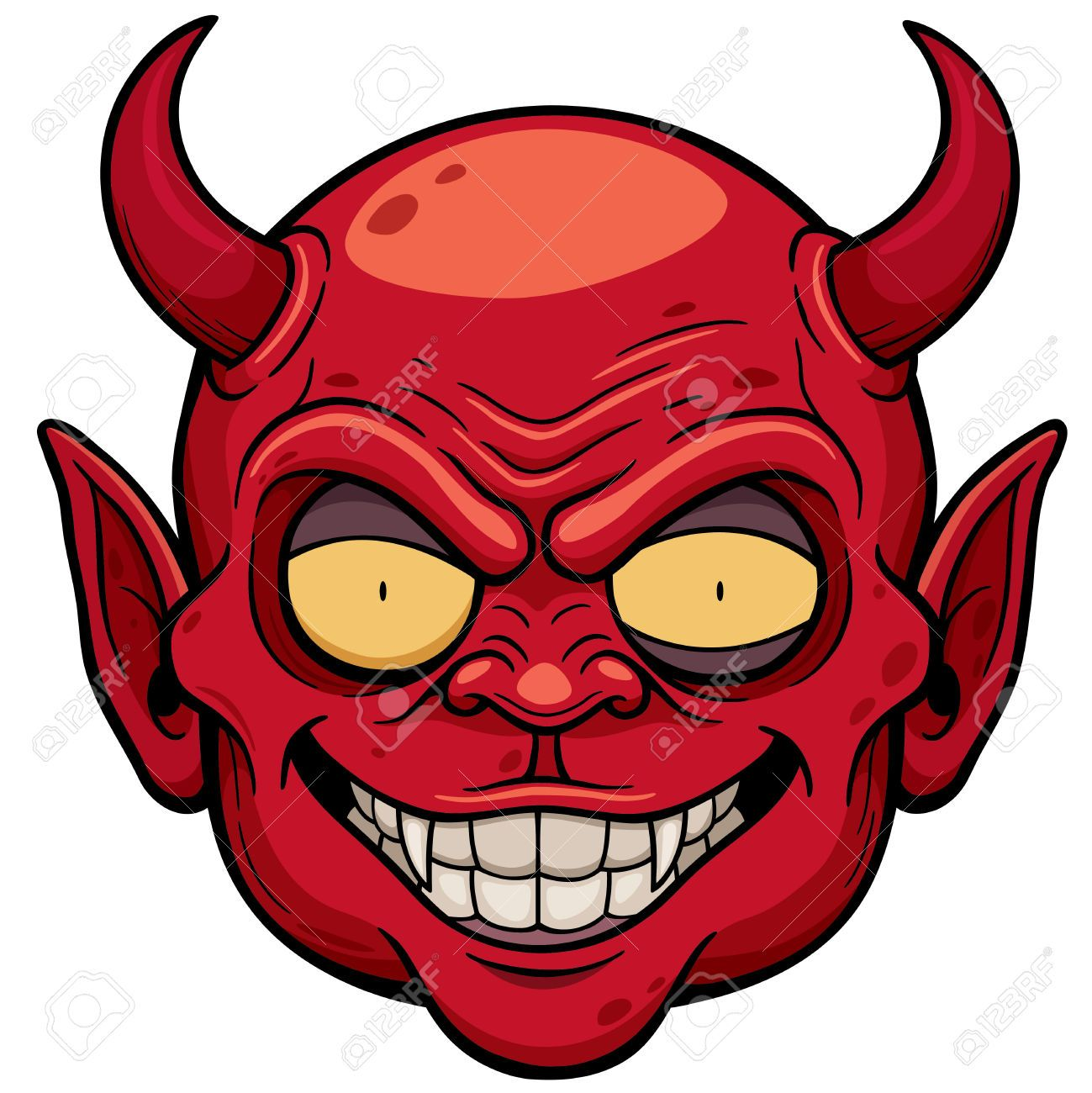 How To Draw A Devil Face Jpg 1299x1300 Cartoon Devil Face Drawings