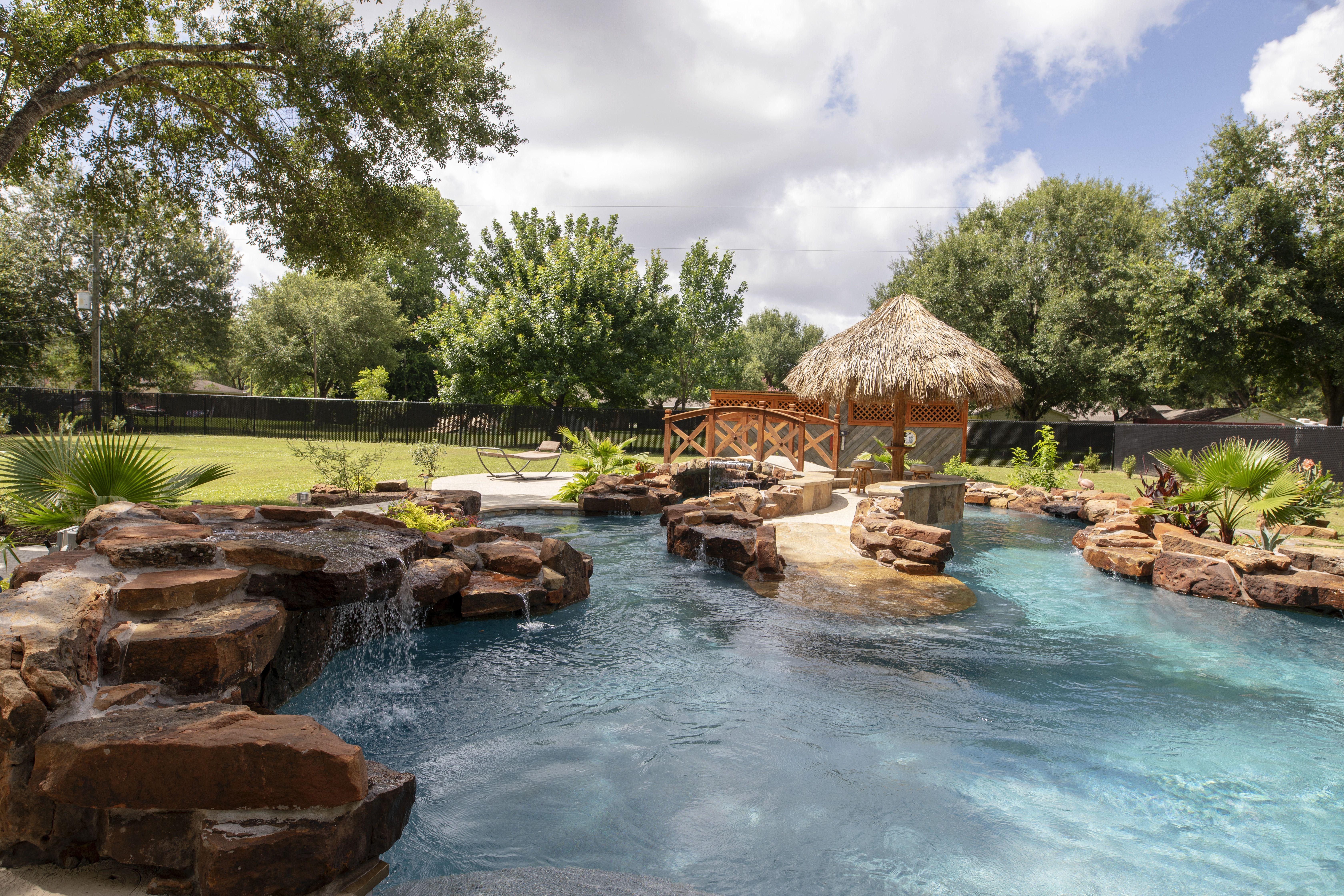Custom Lazy River   Pool designs, Backyard, Construction