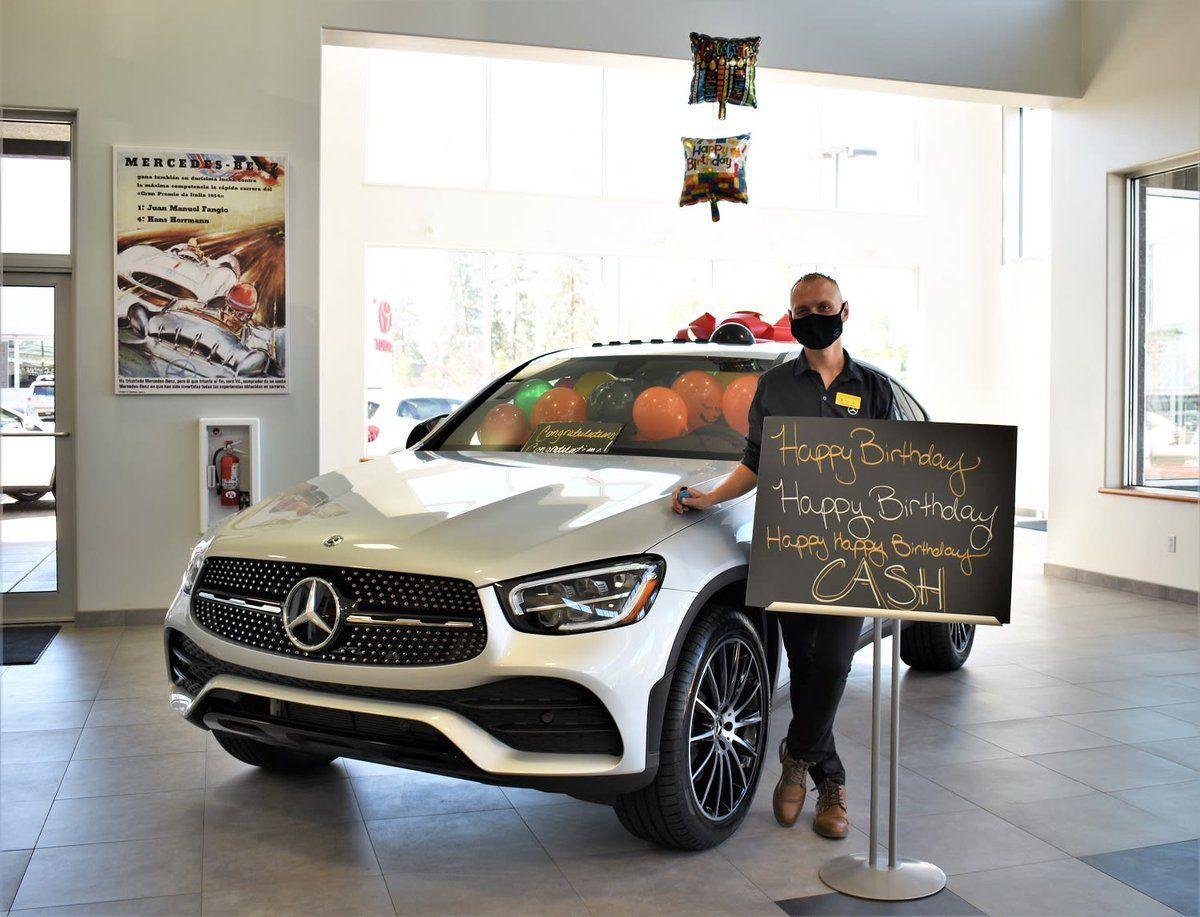Happy Birthday Cash And Congratulations On Your New 2020 Mercedes Benz Glc 300 Mercedesbenzbend Glc300 Lets Car Dealership Mercedes Benz Glc Mercedes Benz