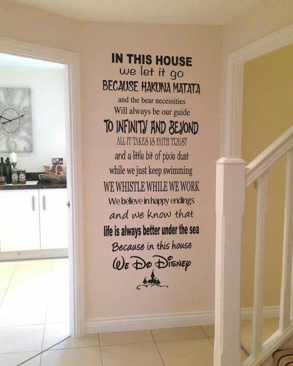 In this House....we do Disney #disneyhousedecor