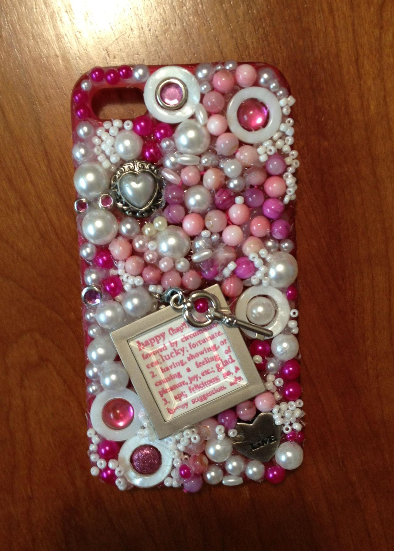 Blinged out I-phone case for my niece