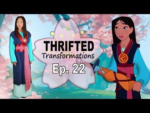Thrifted Transformations | Ep. 22 DIY Mulan Costume - YouTube ...