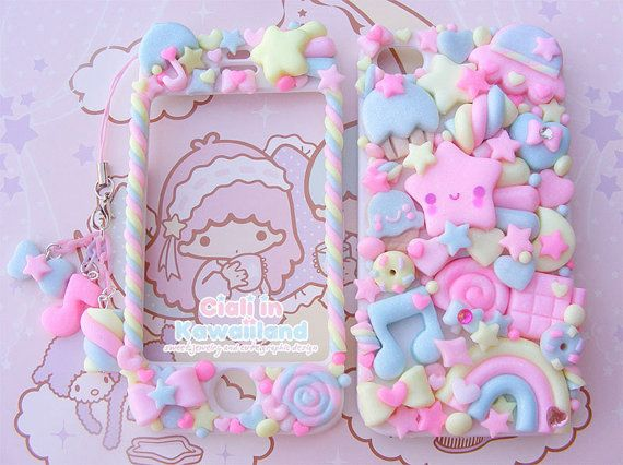 Sugary Sky case - Super cute kawaii front back case for Iphone 4 4s 5 galaxy s2 s3 s4