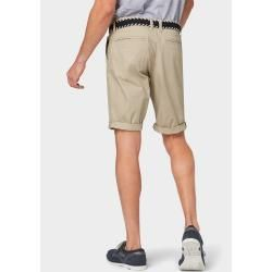 Photo of Tom Tailor Herren Josh Regular Slim Bermuda Shorts mit Gürtel, beige, unifarben, Gr.32 Tom TailorTom