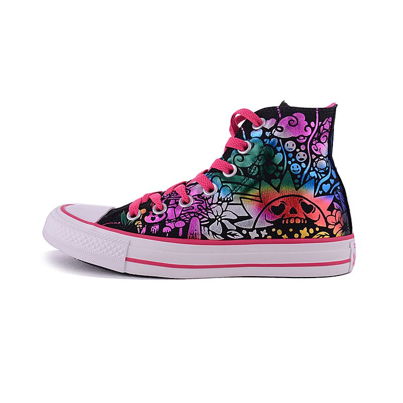 09618ab7fe4c06  converse spring and autumn female models love smiley stamp all star high-top  shoes 546587C