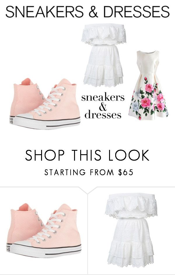 """Untitled #35"" by creativeness-duhhhh ❤ liked on Polyvore featuring Converse, LoveShackFancy and Chicwish"