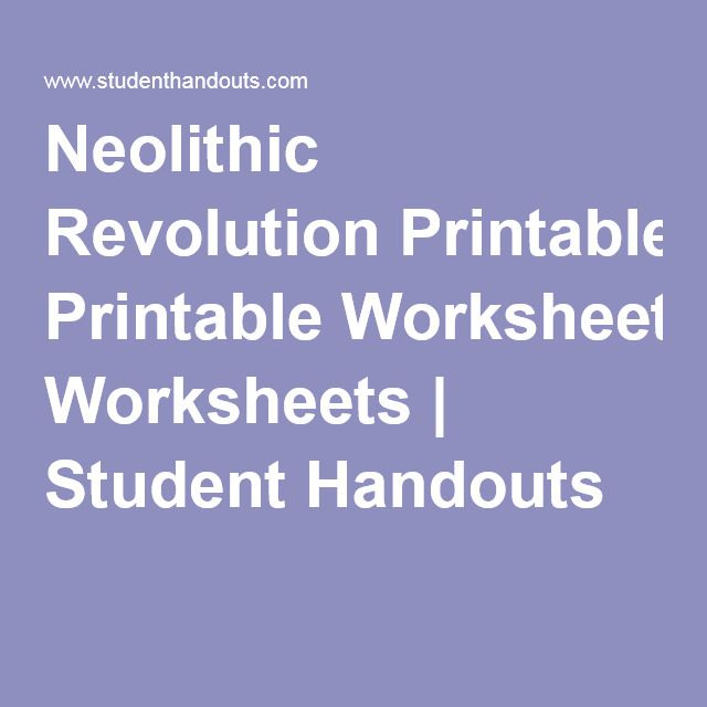 For end of the year work grades 4-6 Neolithic Revolution ...