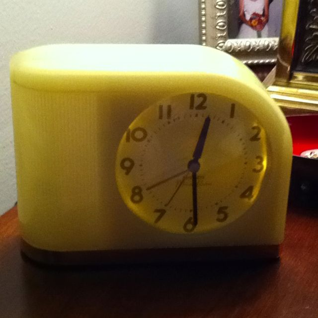 big ben moonbeam deco alarm clock from ll bean this would be on the nightstand alarm turned off. Black Bedroom Furniture Sets. Home Design Ideas